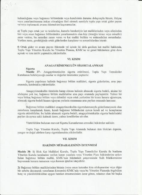Yönetim Planı - Atakent Orkide Sitesi